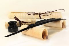 Papyrus scroll Stock Images