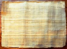 Papyrus Scroll. Blank Egyptian Papyrus Scroll unrolled royalty free stock images
