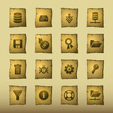 Papyrus server icons Royalty Free Stock Photos