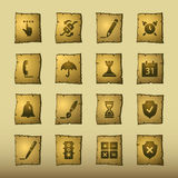 Papyrus software icons Royalty Free Stock Photo