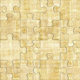 Papyrus texture - seamless pattern - puzzle pattern Stock Photos