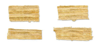 Papyrus Torn Paper. Stock Image