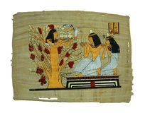 Papyrusanstrich Lizenzfreie Stockfotos