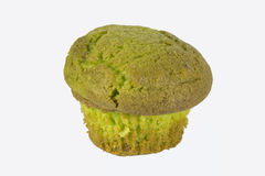 Paqstachio muffin. An pistachio muffin on a white back ground Royalty Free Stock Photography