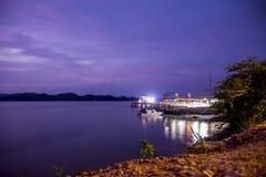 Paquera轮渡港口, puntarenas哥斯达黎加 免版税库存图片