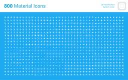 Paquet ÉNORME d'icônes matérielles de conception illustration de vecteur