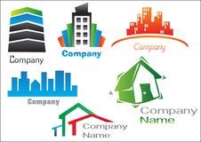 Paquet 2 de logo d'immeubles