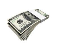 Paquet 2 f1s de billet d'un dollar Photos libres de droits