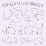 Paquet animal de grand origami Illustration Libre de Droits