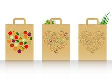 Paquet avec des légumes Image stock