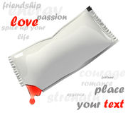 Paquet blanc de bâton Photographie stock