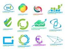 Paquet courant aléatoire de logos Photographie stock libre de droits