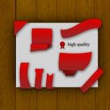 Paquet d'éléments rouges de Web Photos stock