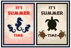Paquet d'affiche d'été Photographie stock