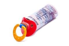 Paquet d'argent sous forme de soother Photo libre de droits