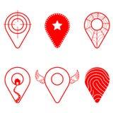 Paquet d'icône de Geolocation L'ensemble de Geolocation signe dedans le style différent pour votre conception de site Web, le log illustration de vecteur
