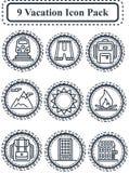 Paquet d'icône de vacances Photo libre de droits