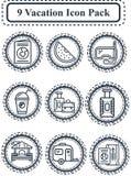 Paquet d'icône de vacances Image libre de droits