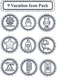 Paquet d'icône de vacances Image stock