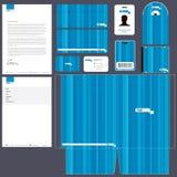 Paquet d'identité de corporation | Bleu Images stock