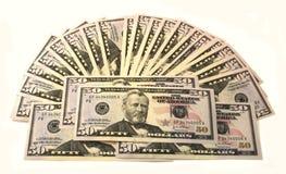 Paquet de 50 dollars Images stock