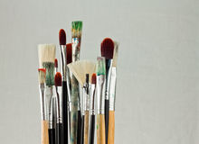 Paquet de balais d'art Photos libres de droits