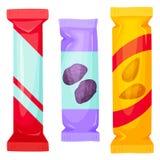 Paquet de barres de chocolat illustration de vecteur