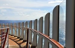 Paquet de bateau de croisière Images libres de droits