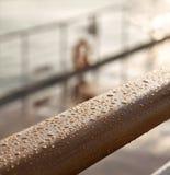 Paquet de bateau railling Images libres de droits