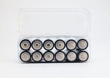 Paquet de batterie d'aa Image stock