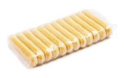 Paquet de biscuits de Savoiardi image libre de droits