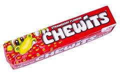 Paquet de bonbons caoutchouteux à Chewits photographie stock libre de droits