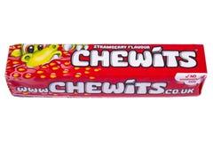 Paquet de bonbons caoutchouteux à Chewits image stock