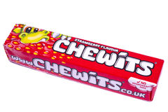 Paquet de bonbons caoutchouteux à Chewits photos libres de droits