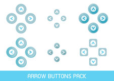 Paquet de boutons de flèche Photo stock