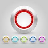 Paquet de boutons de Web de vecteur Photos libres de droits
