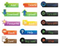 Paquet de boutons et de graphismes de vecteur pour le site Web Image libre de droits