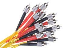 Paquet de câble optique de fibre Photos stock