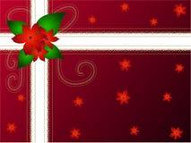 Paquet de cadeau de fleur de Noël illustration libre de droits