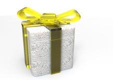 paquet de cadeau enveloppé par ruban Photo stock