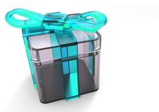 paquet de cadeau enveloppé par ruban Photos stock