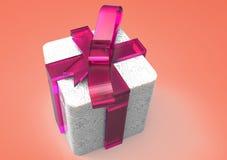 paquet de cadeau enveloppé par ruban Photo libre de droits