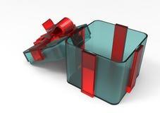 paquet de cadeau enveloppé par ruban Photographie stock libre de droits
