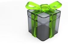 paquet de cadeau enveloppé par ruban Photographie stock