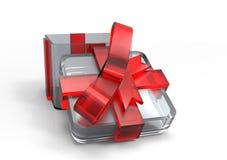 paquet de cadeau enveloppé par ruban Photos libres de droits