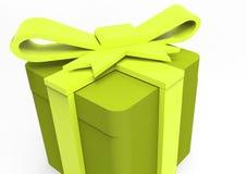 paquet de cadeau enveloppé par ruban Images stock