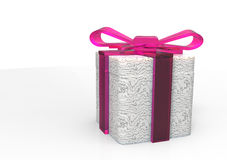 paquet de cadeau enveloppé par ruban Images libres de droits