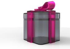 paquet de cadeau enveloppé par ruban Image libre de droits