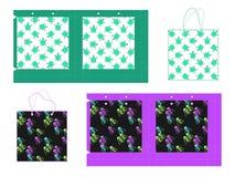 Paquet de cadeau de papier de calibre Fond sans couture avec des tortues et des méduses de stylistique Illustration de vecteur illustration de vecteur