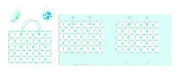 Paquet de cadeau de papier de calibre Fond sans couture avec des tortues de stylistique illustration de vecteur